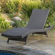 Grey Wicker Patio Furniture by Grey Outdoor Lounge Chairs You U0027ll Love Wayfair