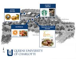Map Of Charlotte Dine On Campus At Queens University Of Charlotte