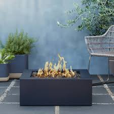 real flame bryon 30 in steel propane fire pit in raven black with