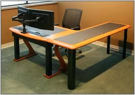 long computer desk for two desk for 2 computers computer desk series by large desk for two