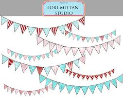 items similar to vintage shabby chic bunting banner digital clip