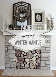 a neutral winter mantle the crazy craft lady with faux stacked