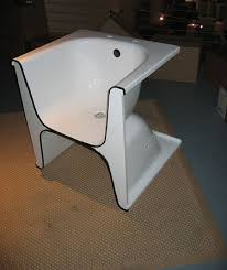fauteuil baignoire upcycled recycled bath