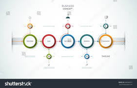 vector infographics timeline design template 3d stock vector vector infographics timeline design template with 3d paper label integrated circles background blank space