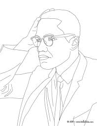 malcolm x free coloring pages on art coloring pages