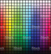 Color Spectrum Color Spectrum Palette Hue And Brightness On Black Background