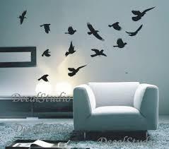 Birds Home Decor Flying Birds Home Decal Graphic Wall Sticker Room Decor Black