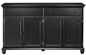 amazon com harwick black credenza sideboard buffet table 35