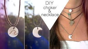 diy pendant choker necklace images Diy wave choker moon necklace part 1 jpg