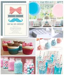 gender reveal baby shower bows and mustaches baby shower inspiration board gender reveal