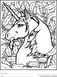 advanced coloring pages unicorn ginormasource kids