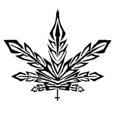 tribal pot leaf design photo 4 greenthumb