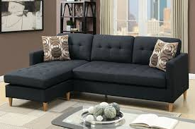Apartment Sectional Sofa by 2 Pc Leta Collection Black