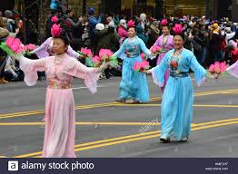 thanksgiving parade in chicago chicago illinois usa november 24 2016 falun dafa chinese
