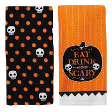 Halloween Print Fabric by Halloween Kitchen Towels Halloween Wikii