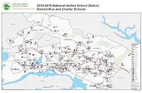 map of oakland oakland unified district map for 2015 16 now available