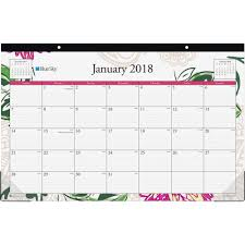 blue sky dahlia collection desk calendar pad julian daily weekly monthly 1 year january till december 1 month single page layout desk pad