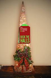gardman large pre lit rattan christmas cone tree xmas home décor