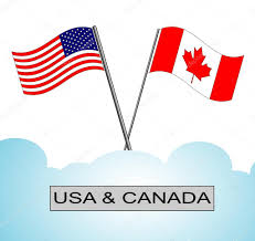 american flag crossed with canadian flag u2014 stock vector hamikus