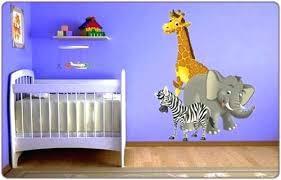 stickers savane chambre bébé stickers deco chambre bebe stickers animaux jungle et savane
