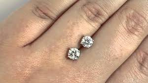 1 4 carat diamond earrings 1 25ct cut diamond g si2 matching stud earrings