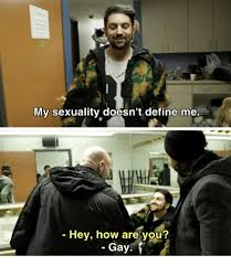 Define A Meme - my sexuality doesn t define me hey how are you gay define meme