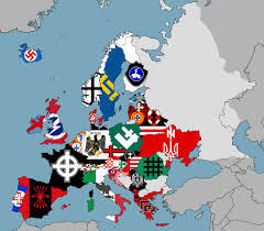 Flags Of Countries In Europe Fascist Flags Across Europe 1984 1736 Mapporn