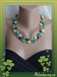 flower bead necklace images Free flower beaded necklace pattern featured in bead png