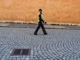 police woman walking free stock images by libreshot