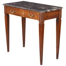 Cherry Wood Side Table French Louis Xvi Style Cherrywood Side Table With Marble Top