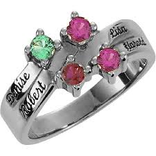 mothers ring with names engraved rings with personalized names birthstones