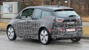 nissan leaf spy shots updated bmw i3 spotted out testing in first spyshots