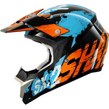 blue motocross helmets shark sx2 freak black orange blue motocross helmet kob moto x