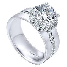 wide band engagement rings 18k white gold wide brushed channel set diamond engagement ring