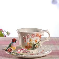 Decorating Porcelain Mugs Tea Coffee Font B Mugs B Font Ceramic Birds Flowers Milk Cup Home Decor Font B Jpg