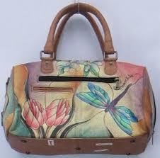 anuschka premium antique anuschka sz medium painted leather satchel dragonfly handbag