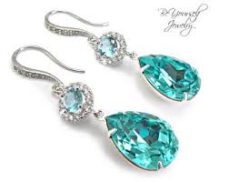 turquoise bridal earrings turquoise bridal jewelry etsy