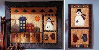 quilted folk wall hangings celebrate the season quilting digest