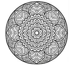 relax create free mandala coloring pages