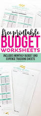 Free Printable Self Help Worksheets Best 25 Monthly Expense Sheet Ideas On Pinterest Monthly Budget