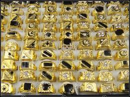 cheap mens rings images Hot selling black enamel fashion men ring cheap price wholesale jpg