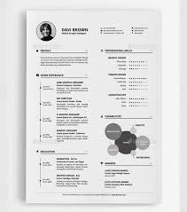 Best Simple Resume Template 25 Best Simple Photoshop U0026 Indesign Resume Templates Web