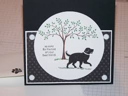 touching sympathy card design for losing pet with black kraft paper
