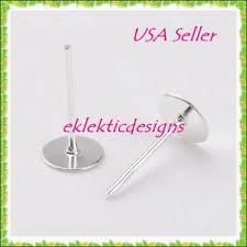 flat back earrings 20pcs 4mm silver plated flat back stud posts earrings jewelry