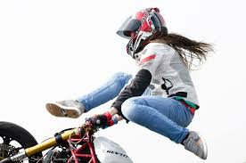 summer motorcycle jacket sarah lezito stuntrider is staying cool this summer with the