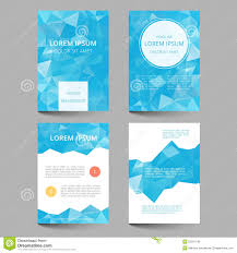 document template low poly design stock vector image 52291142