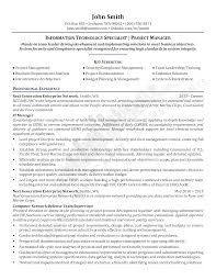 Resume Questionnaire Template Information Technology Specialist Resume Questionnaire Template