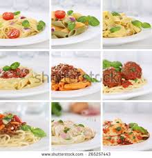collection cuisine cuisine collection ingredients spaghetti pasta stock photo