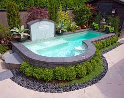 Above Ground Pool Ideas Backyard Small Backyard Inground Pool Design Completure Co