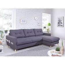 canapé d angle carré bobochic canapé d angle droit convertible avec coffre tissu gris